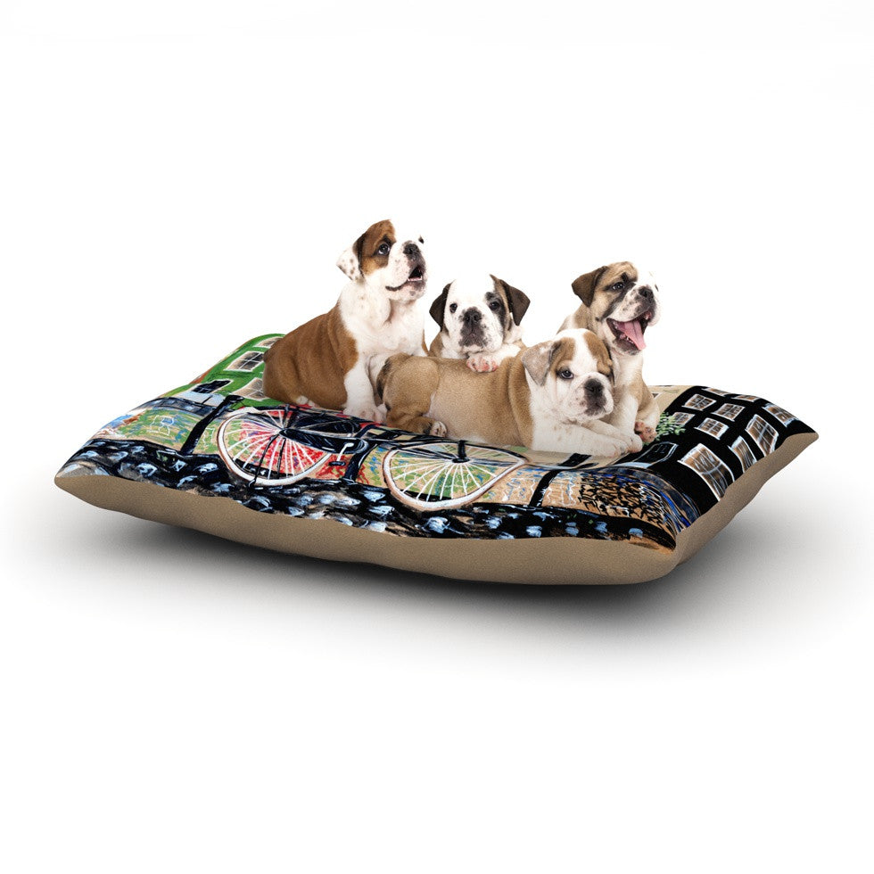 "Christen Treat ""Bicycle"" Dog Bed - KESS InHouse  - 1"