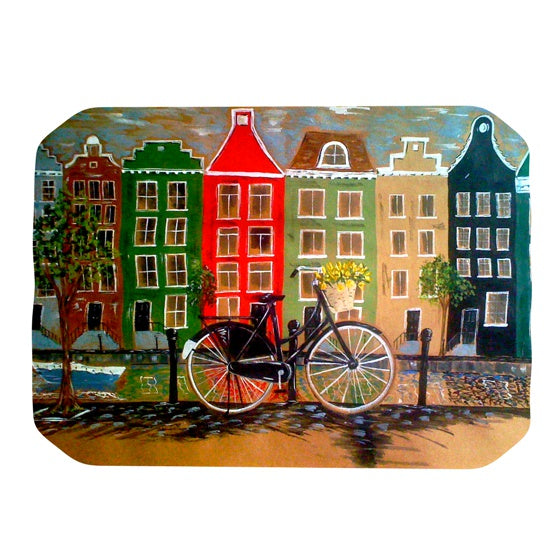 "Christen Treat ""Bicycle"" Place Mat - KESS InHouse"