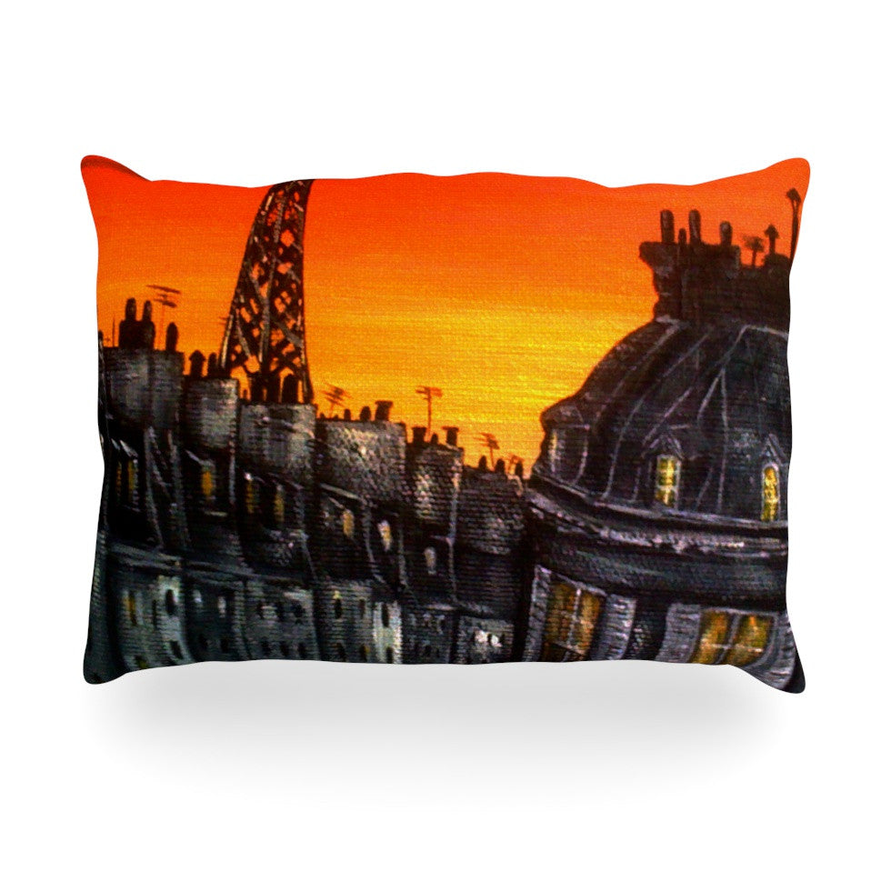 "Christen Treat ""Paris"" Oblong Pillow - KESS InHouse"