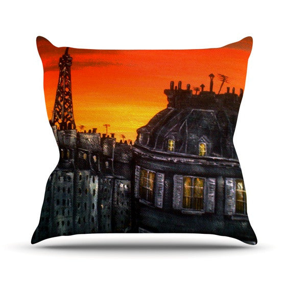 "Christen Treat ""Paris"" Outdoor Throw Pillow - KESS InHouse  - 1"