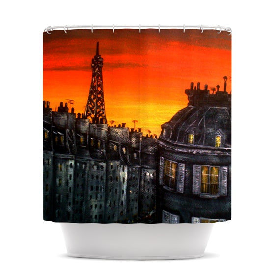 "Christen Treat ""Paris"" Shower Curtain - KESS InHouse"