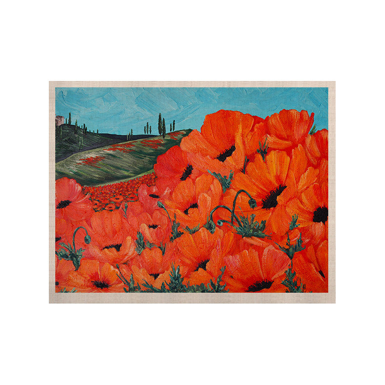 "Christen Treat ""Poppies"" KESS Naturals Canvas (Frame not Included) - KESS InHouse  - 1"