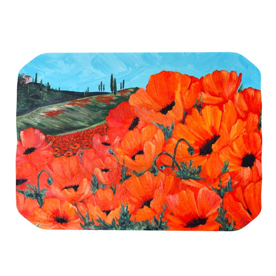 "Christen Treat ""Poppies"" Place Mat - KESS InHouse"