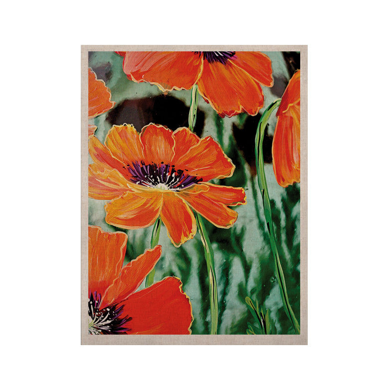 "Christen Treat ""Through the Looking Glass"" Orange Green KESS Naturals Canvas (Frame not Included) - KESS InHouse  - 1"