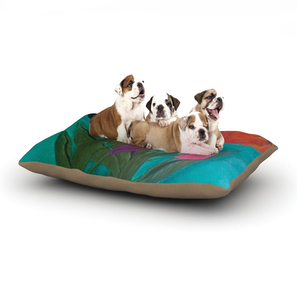 "Christen Treat ""Tulips"" Rainbow Flower Dog Bed - KESS InHouse  - 1"