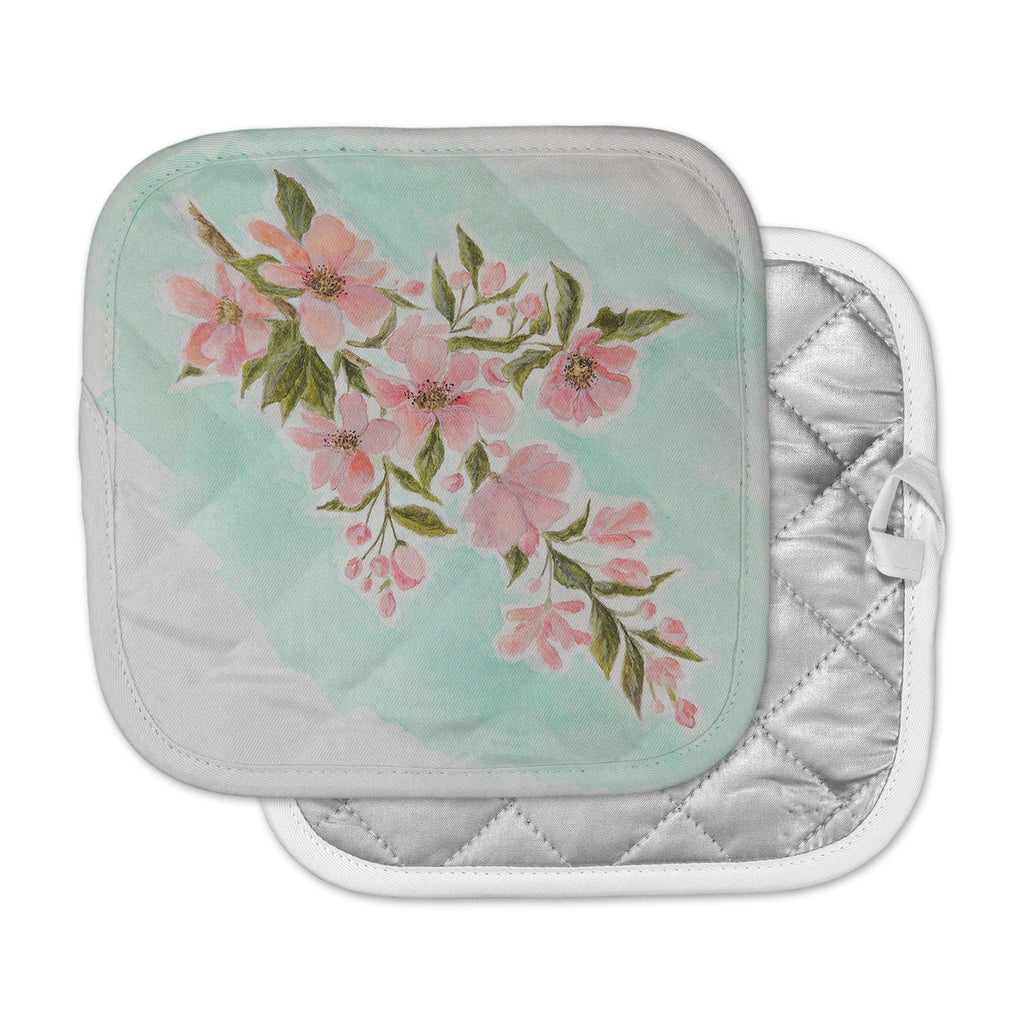 "Christen Treat ""Chieko"" Pink Mint Pot Holder"