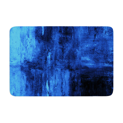 "CarolLynn Tice ""Deep Sea"" Blue Memory Foam Bath Mat - Outlet Item"