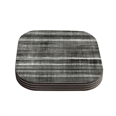 "CarolLynn Tice ""Grey Accent"" Dark Neutral Coasters (Set of 4) - Outlet Item"