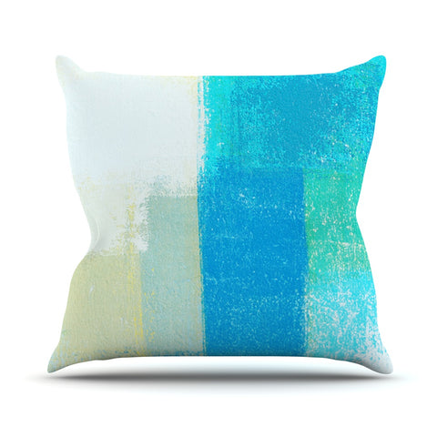 "CarolLynn Tice ""Shallow"" Cool Blues Throw Pillow - Outlet Item - KESS InHouse"
