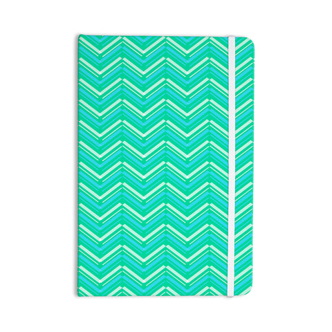 "CarolLynn Tice ""Symetrical"" Teal Turquoise Everything Notebook - KESS InHouse  - 1"