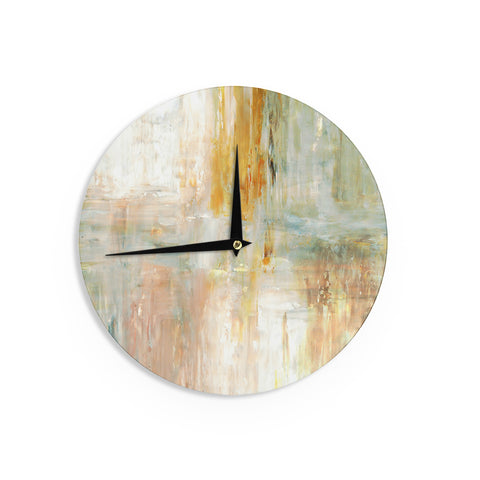 "CarolLynn Tice ""Coffee"" Brown Paint Wall Clock - Outlet Item"