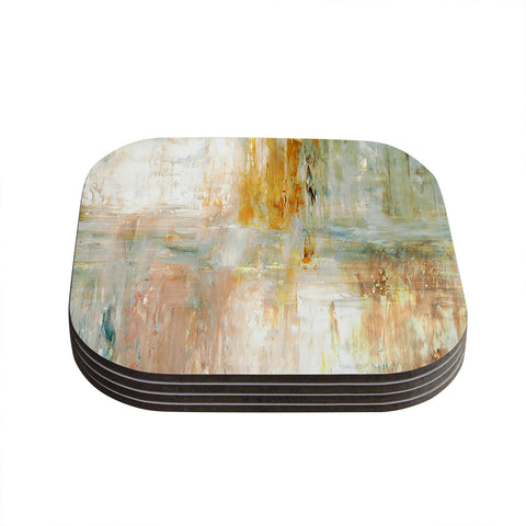 "CarolLynn Tice ""Coffee"" Brown Paint Coasters (Set of 4) - Outlet Item"