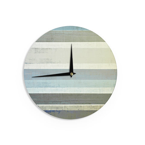 "CarolLynn Tice ""No Limits"" Teal Brown Wall Clock - Outlet Item"