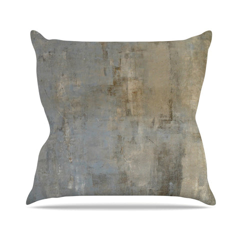 "CarolLynn Tice ""Overlooked"" Brown Gray Throw Pillow - Outlet Item - KESS InHouse"