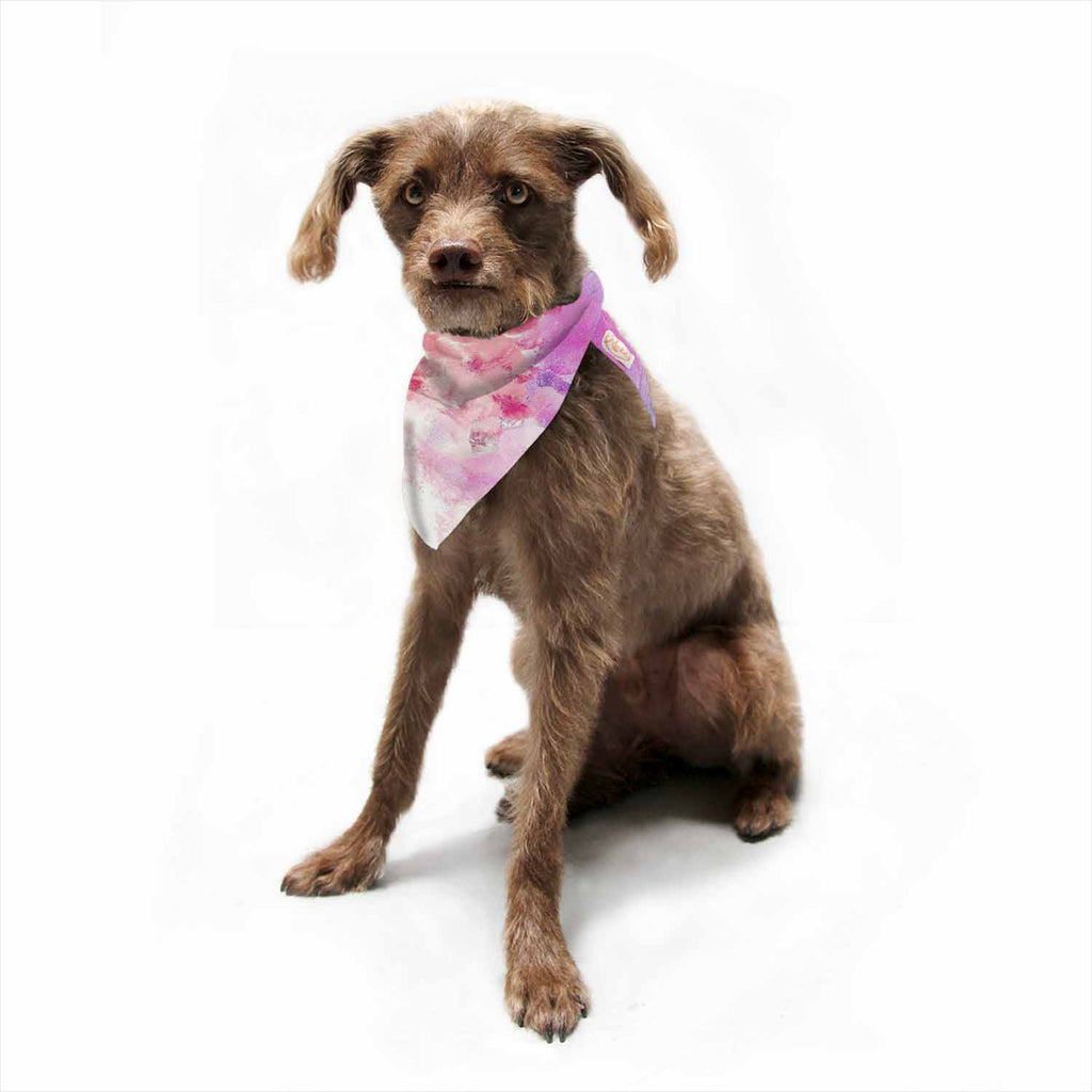 "CarolLynn Tice ""Tannins"" Red Pink Pet Bandana - Outlet Item"