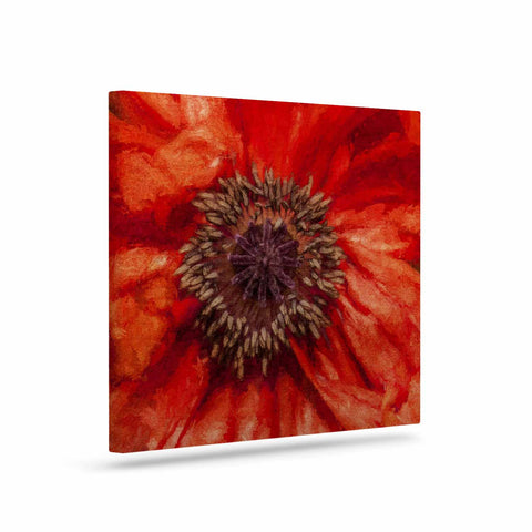 "Ginkelmier ""Poppy"" Orange Floral Canvas Art - Outlet Item"
