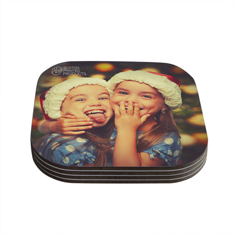 KESS Custom Printed Coasters (Set of 4)