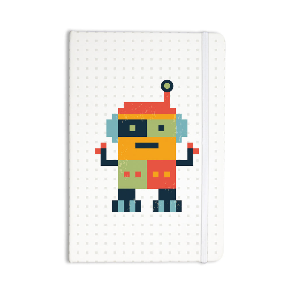 "Daisy Beatrice ""Happy Robot"" Multicolor Everything Notebook - KESS InHouse  - 1"