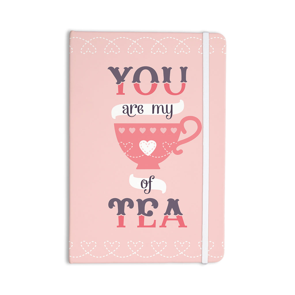 "Daisy Beatrice ""My Cup of Tea"" Pink Purple Everything Notebook - KESS InHouse  - 1"