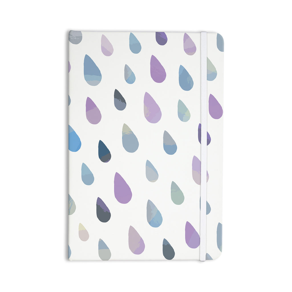 "Daisy Beatrice ""Opal Drops - Mist"" Purple White Everything Notebook - KESS InHouse  - 1"