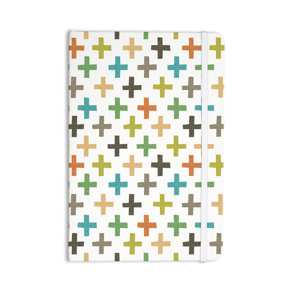 "Daisy Beatrice ""Hipster Crosses Repeat"" Multicolor Everything Notebook - KESS InHouse  - 1"