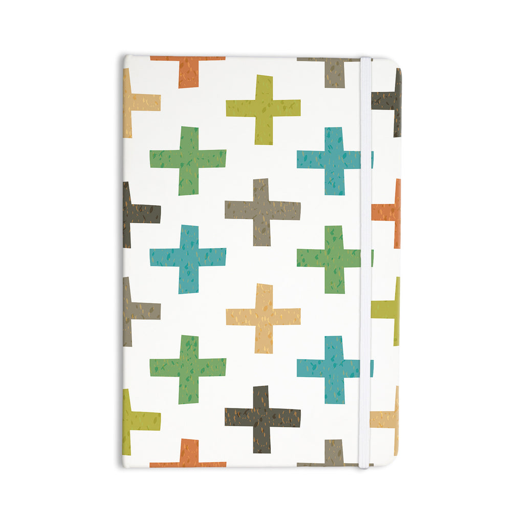 "Daisy Beatrice ""Hipster Crosses"" Multicolor Everything Notebook - KESS InHouse  - 1"