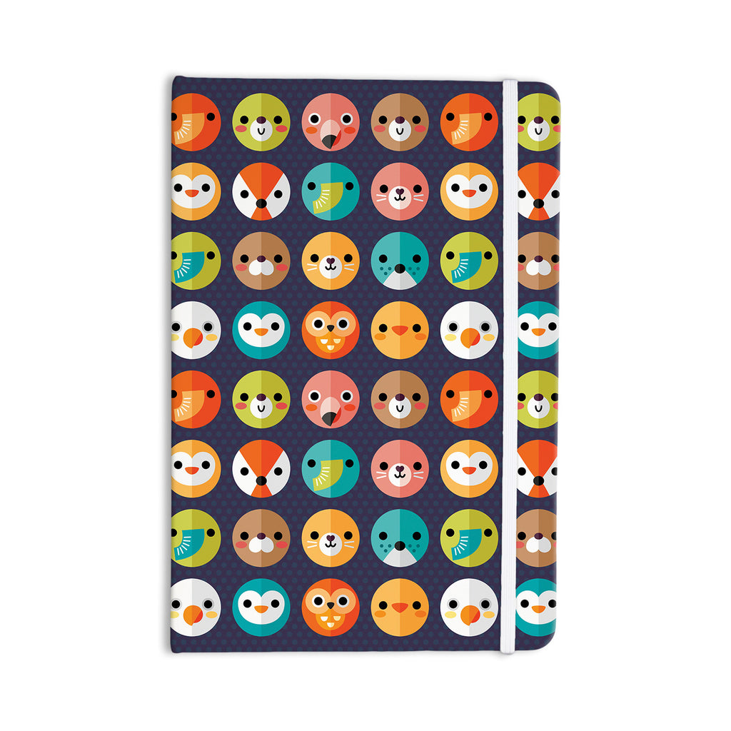 "Daisy Beatrice ""Smiley Faces Repeat"" Animal Pattern Everything Notebook - KESS InHouse  - 1"