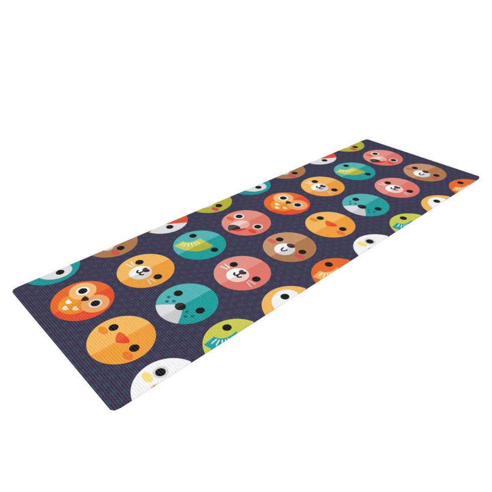 "Daisy Beatrice ""Smiley Faces Repeat"" Animal Pattern Yoga Mat - KESS InHouse  - 1"