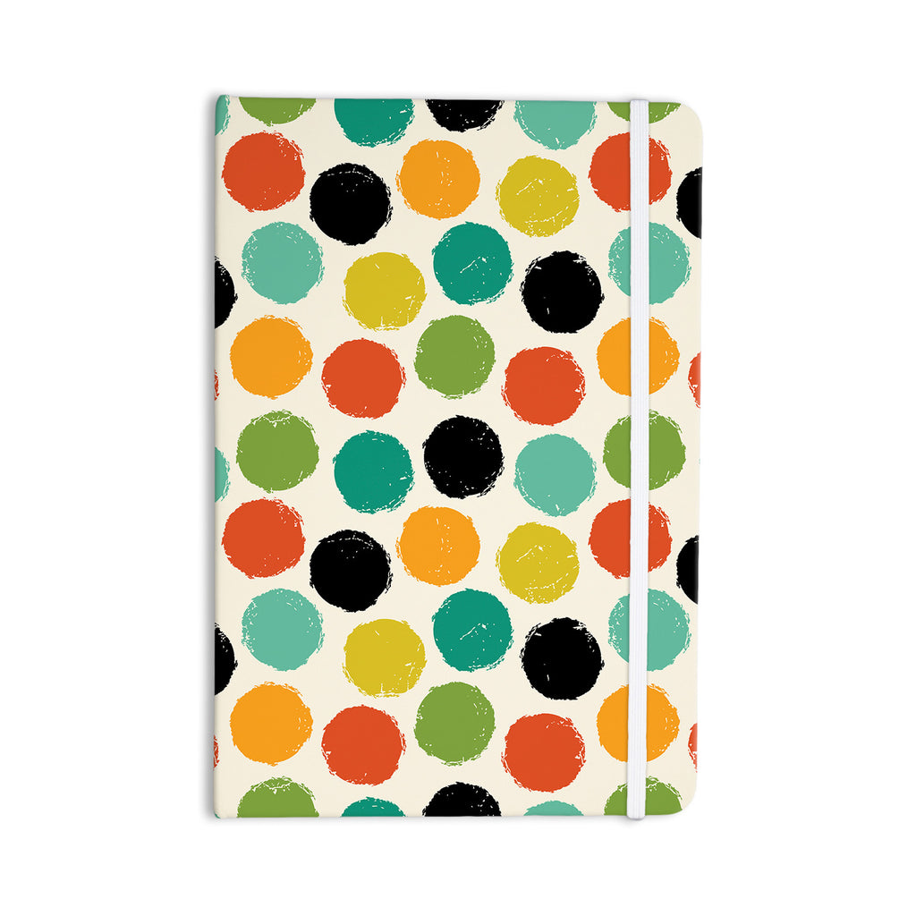 "Daisy Beatrice ""Retro Dots Repeat"" Multicolor Everything Notebook - KESS InHouse  - 1"