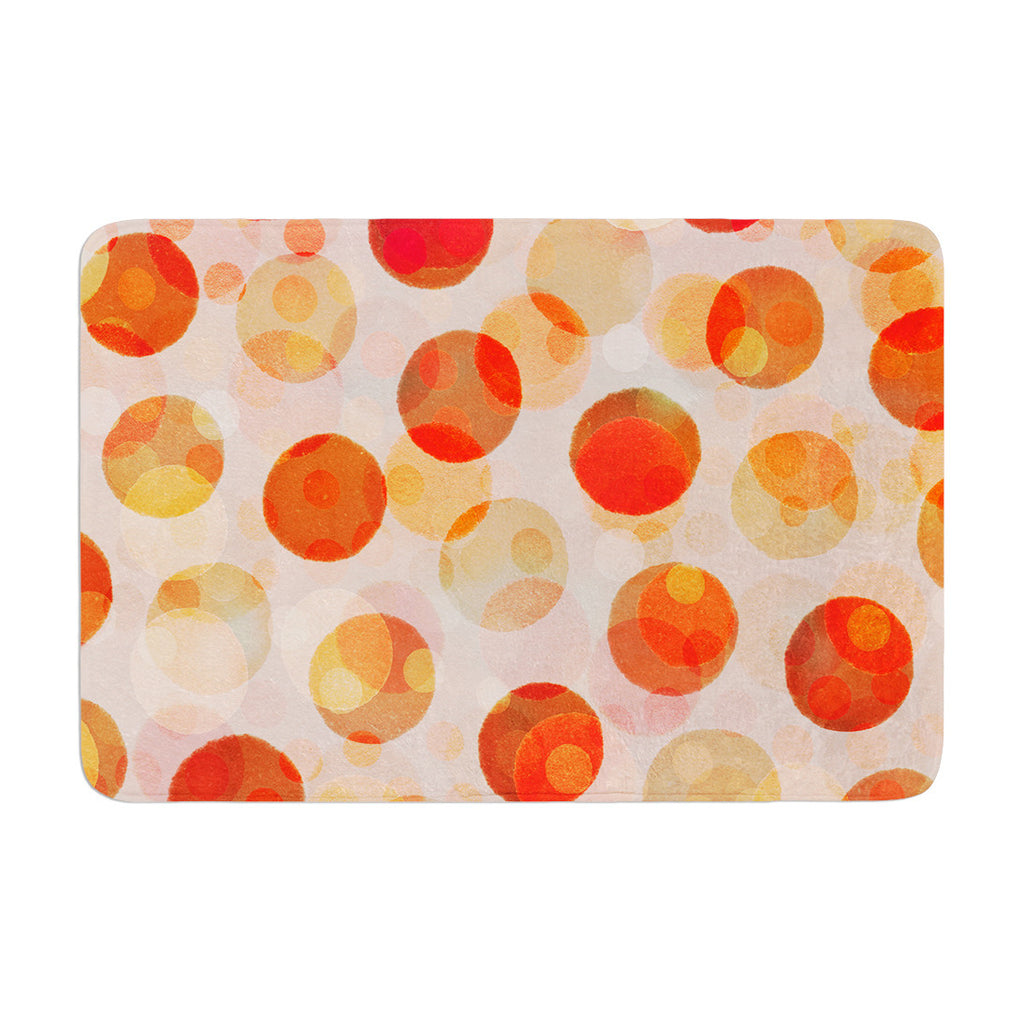 "Daisy Beatrice ""Shepard's Delight"" Orange Memory Foam Bath Mat - KESS InHouse"