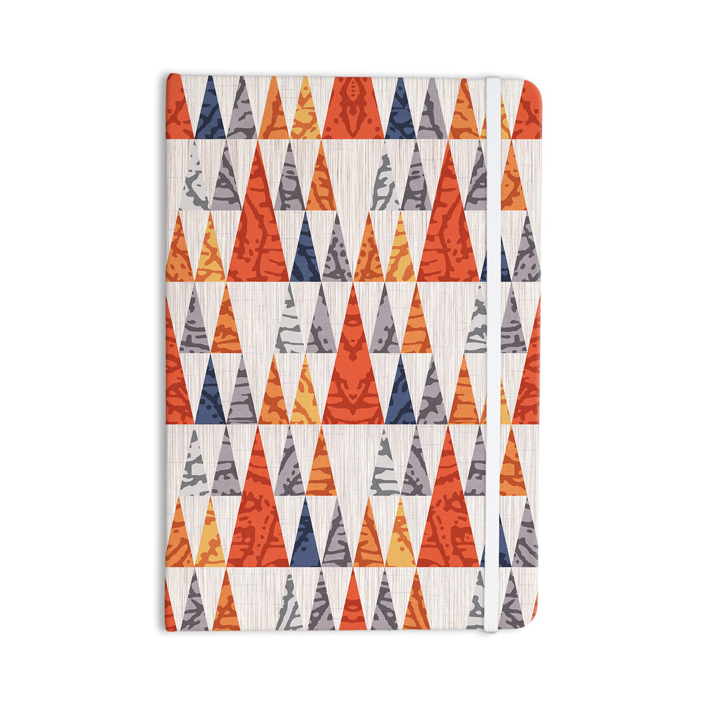 "Daisy Beatrice ""Tepee Town"" Red White Everything Notebook - KESS InHouse"