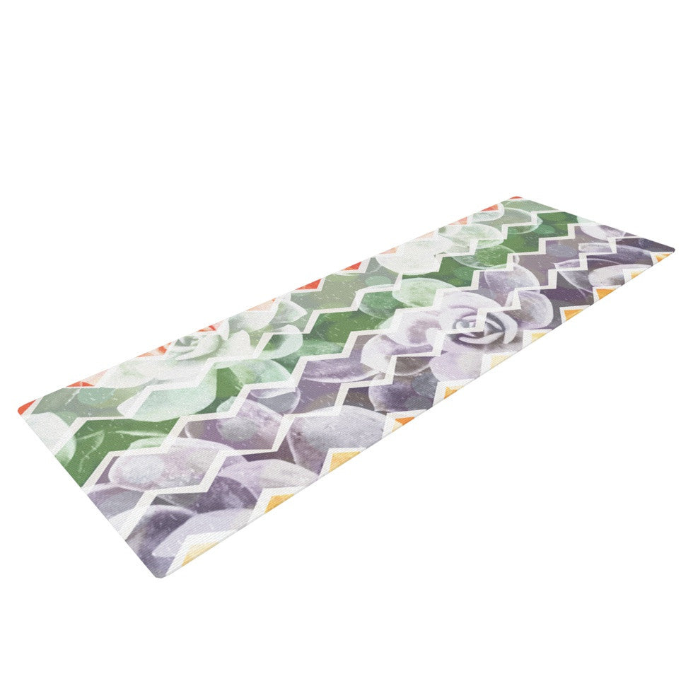 "Daisy Beatrice ""Desert Dreams"" Chevron Yoga Mat - KESS InHouse  - 1"