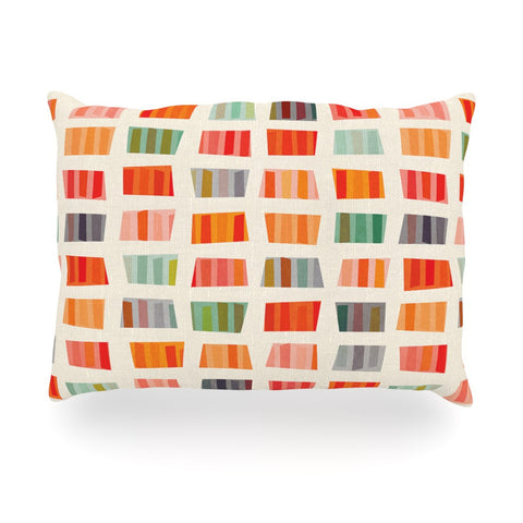 "Daisy Beatrice ""Beach Towels"" Multicolor Oblong Pillow - KESS InHouse"