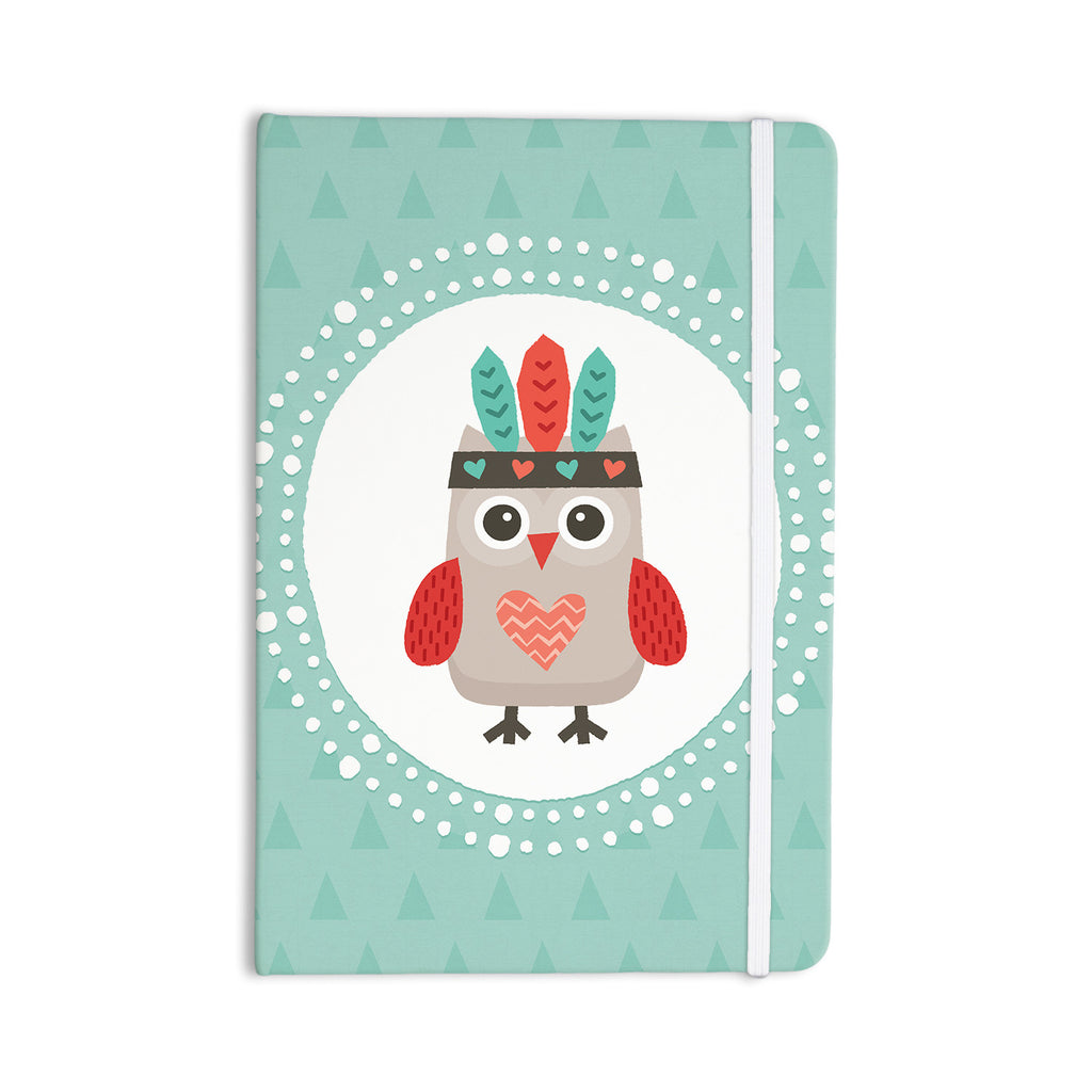 "Daisy Beatrice ""Hipster Owlet Mint Coral"" Teal Everything Notebook - KESS InHouse  - 1"
