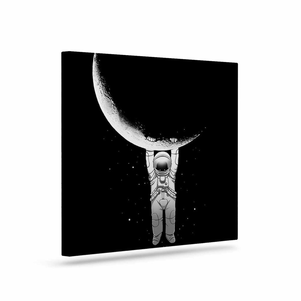 "Digital Carbine ""Help!"" Black White Canvas Art - KESS InHouse  - 1"