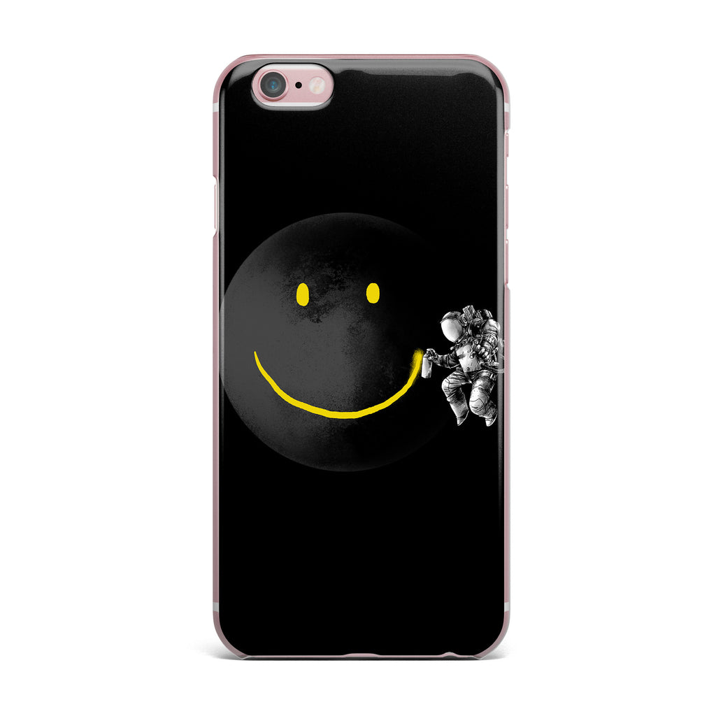 "Digital Carbine ""Make A Smile"" Black Yellow iPhone Case - KESS InHouse"