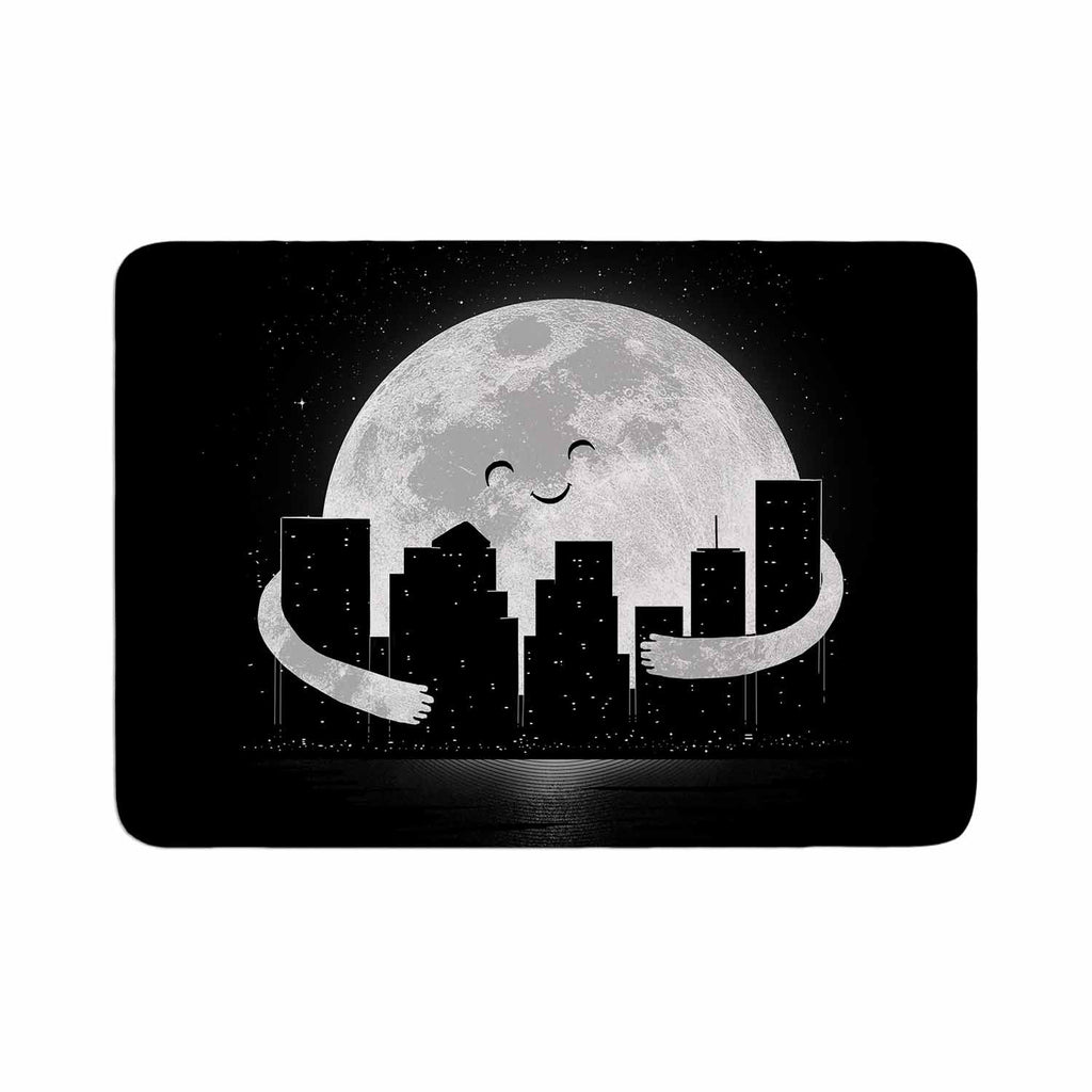 "Digital Carbine ""Goodnight"" Black White Memory Foam Bath Mat - KESS InHouse"
