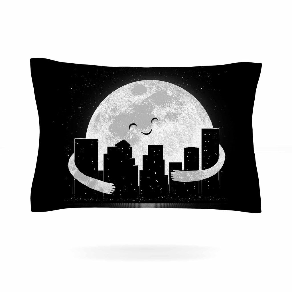"Digital Carbine ""Goodnight"" Black White Pillow Sham - KESS InHouse  - 1"