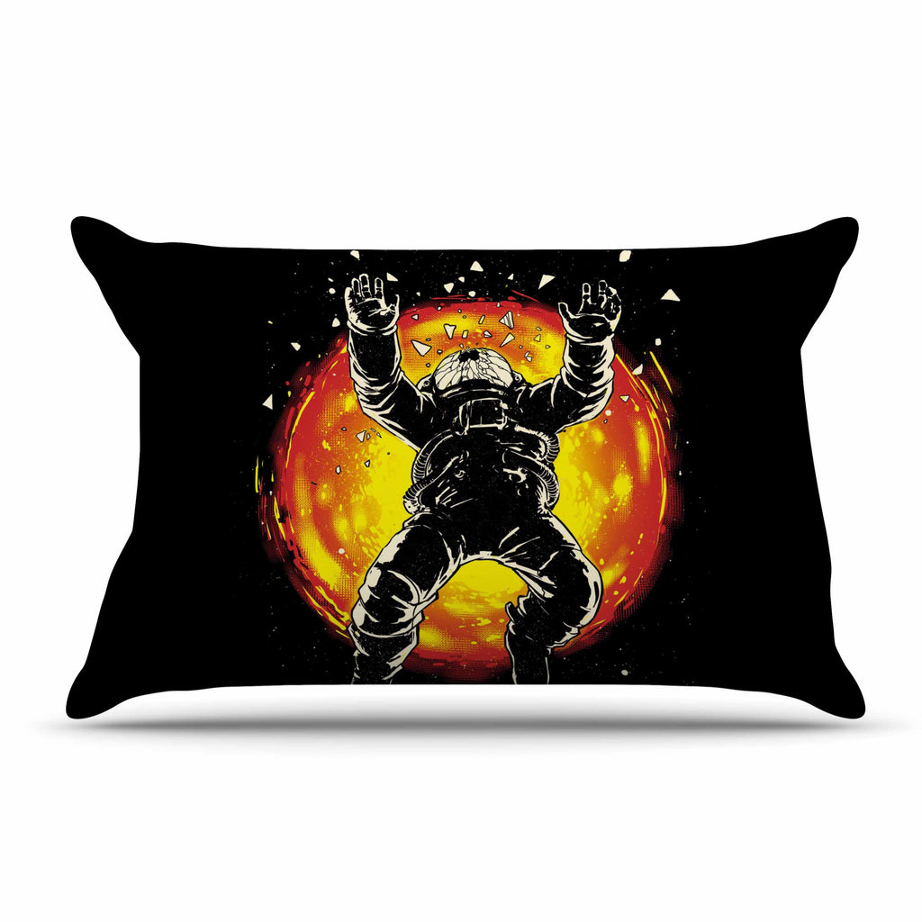 "Digital Carbine ""Lost In The Space"" Black Red Digital Pillow Sham"