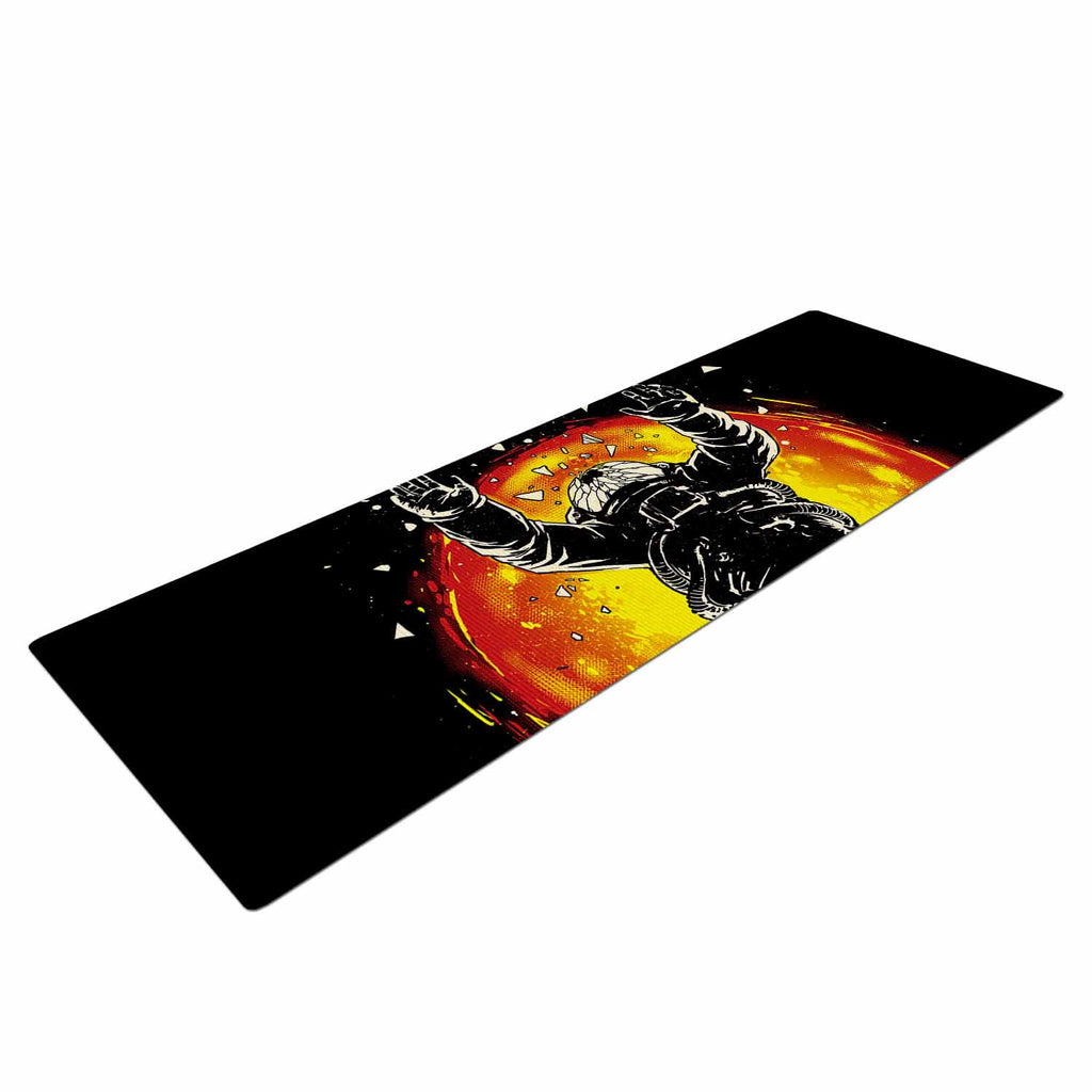"Digital Carbine ""Lost In The Space"" Black Red Digital Yoga Mat"