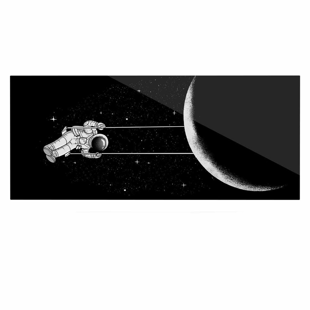 "Digital Carbine ""Moon Swing"" Black Fantasy Illustration Luxe Rectangle Panel"