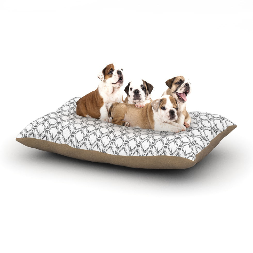 "DLKG Design ""Deer Deer"" Dog Bed - KESS InHouse  - 1"