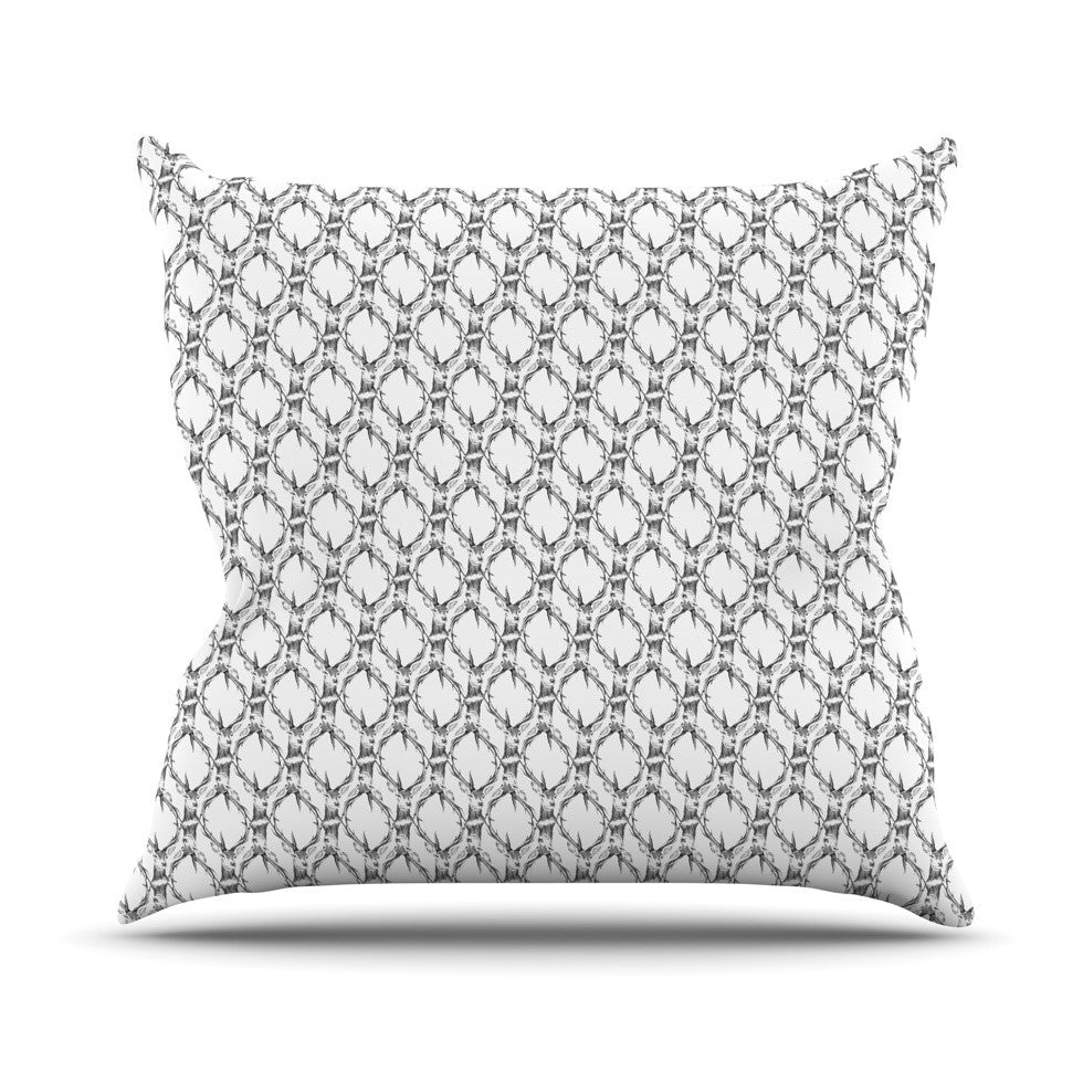 "DLKG Design ""Deer Deer"" Throw Pillow - KESS InHouse  - 1"