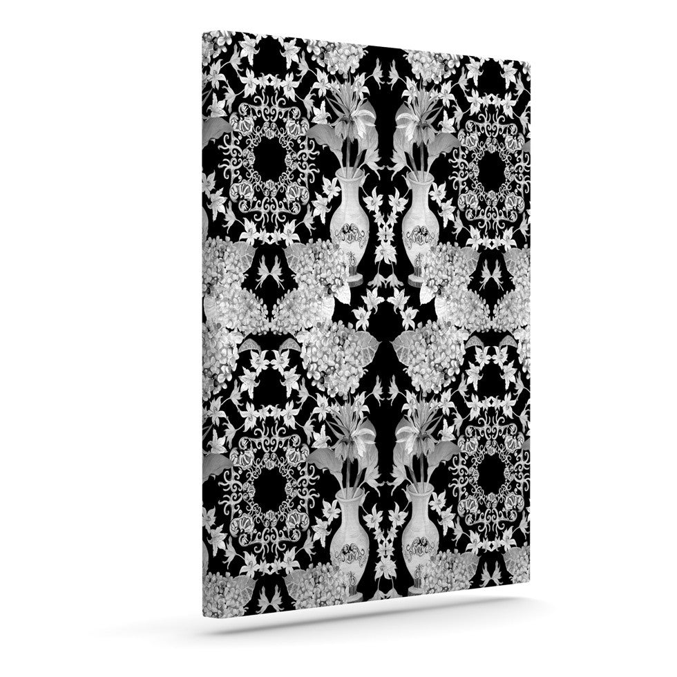 "DLKG Design ""Versailles Black"" Outdoor Canvas Wall Art - KESS InHouse  - 1"