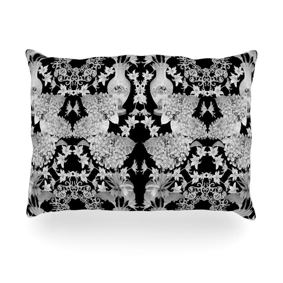 "DLKG Design ""Versailles Black"" Oblong Pillow - KESS InHouse"
