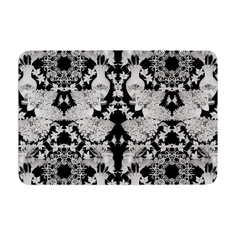 "DLKG Design ""Versailles Black"" Memory Foam Bath Mat - Outlet Item"