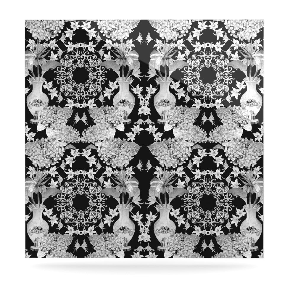 "DLKG Design ""Versailles Black"" Luxe Square Panel - KESS InHouse  - 1"