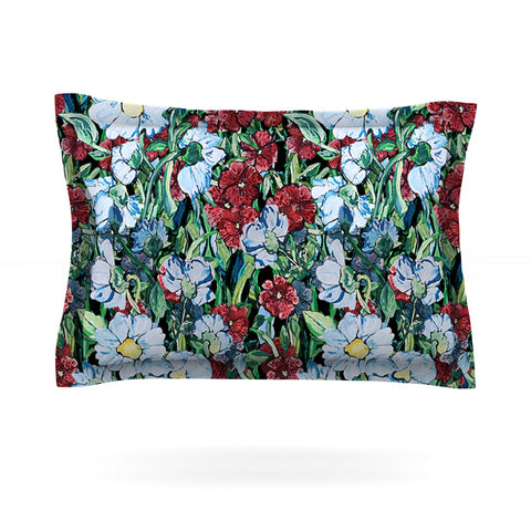 "DLKG Design ""Giardino"" Garden Flowers Pillow Sham - Outlet Item"