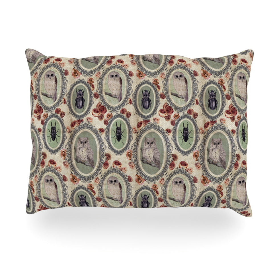 "DLKG Design ""Camafeu"" Gray Beetles Oblong Pillow - KESS InHouse"