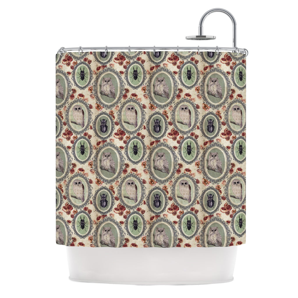 "DLKG Design ""Camafeu"" Gray Beetles Shower Curtain - KESS InHouse"